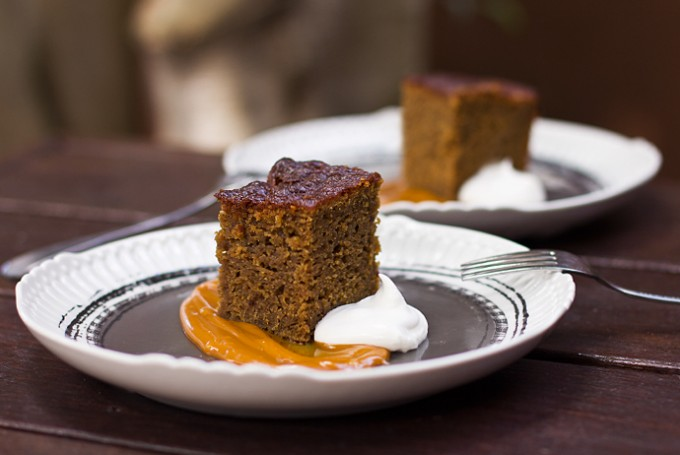 Ginger Cake with Salted Caramel Sauce