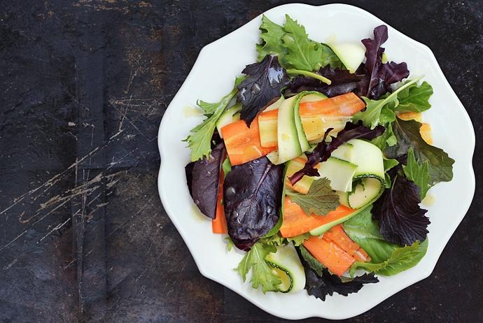Summer Salad with Vanilla Vinaigrette