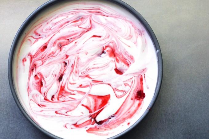 Strawberry Bourbon Sauce Swirl