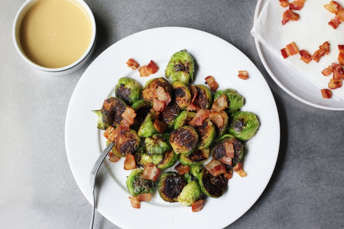 Brussels Sprouts with Bacon and Miso-Mustard