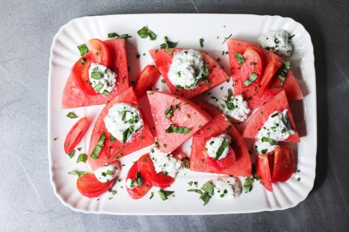 Watermelon and Tomato Wedge Salad