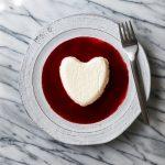 Meyer Lemon Coeur à la Crème with Raspberry Sauce