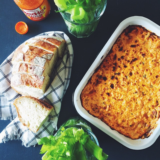 Buffalo chicken dip swirled with the aforementioned homemade ranch. Freshly…