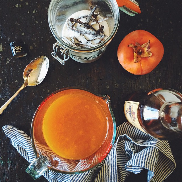 Persimmon Fool: persimmon purée, vanilla sugar, spiced rum. Mix with wHipped cream right before serving. #KKTDay2014