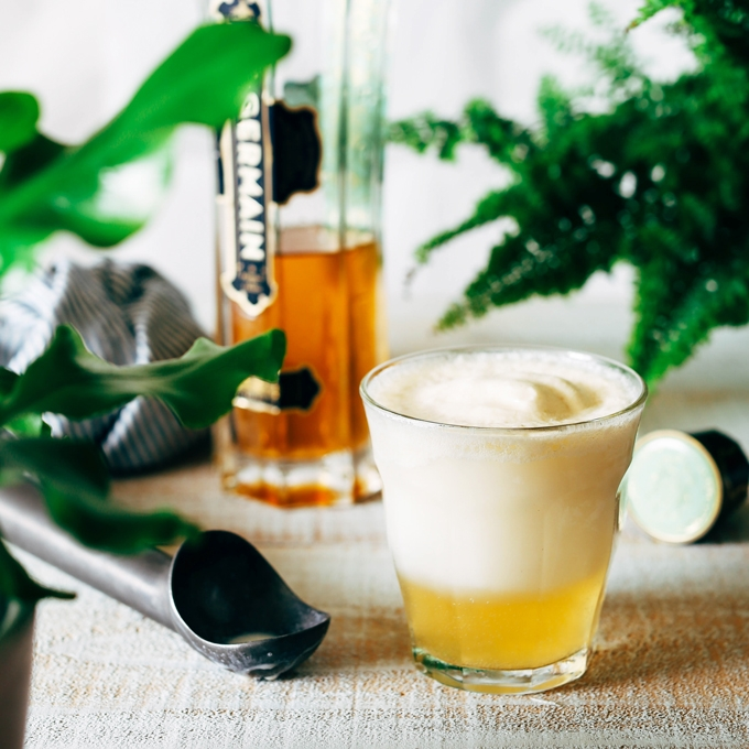 St. Germain Ice Cream Float