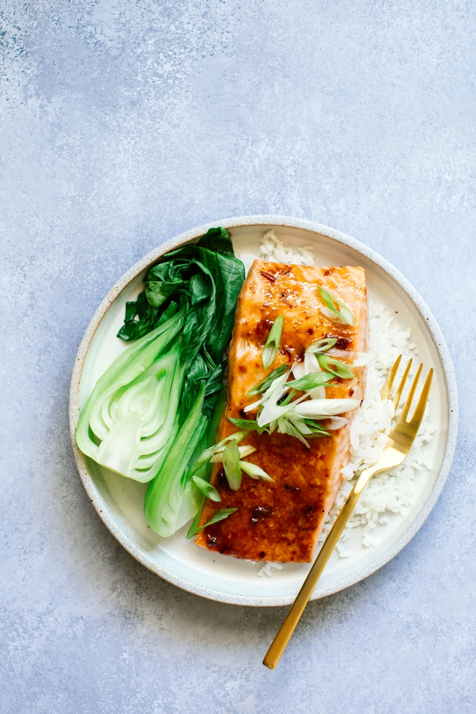 Plum Glazed Salmon