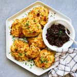 Cheddar Apple Biscuits with Bacon Jam