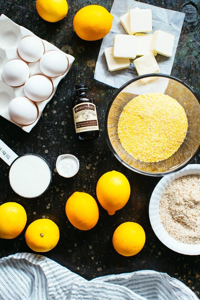 Meyer Lemon Polenta Cake Ingredients