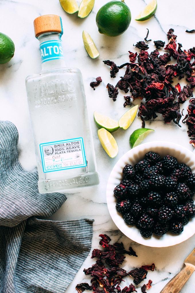 Blackberry Hibiscus Cooler Ingredients