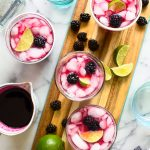 Blackberry Hibiscus Cooler Cocktail Recipe