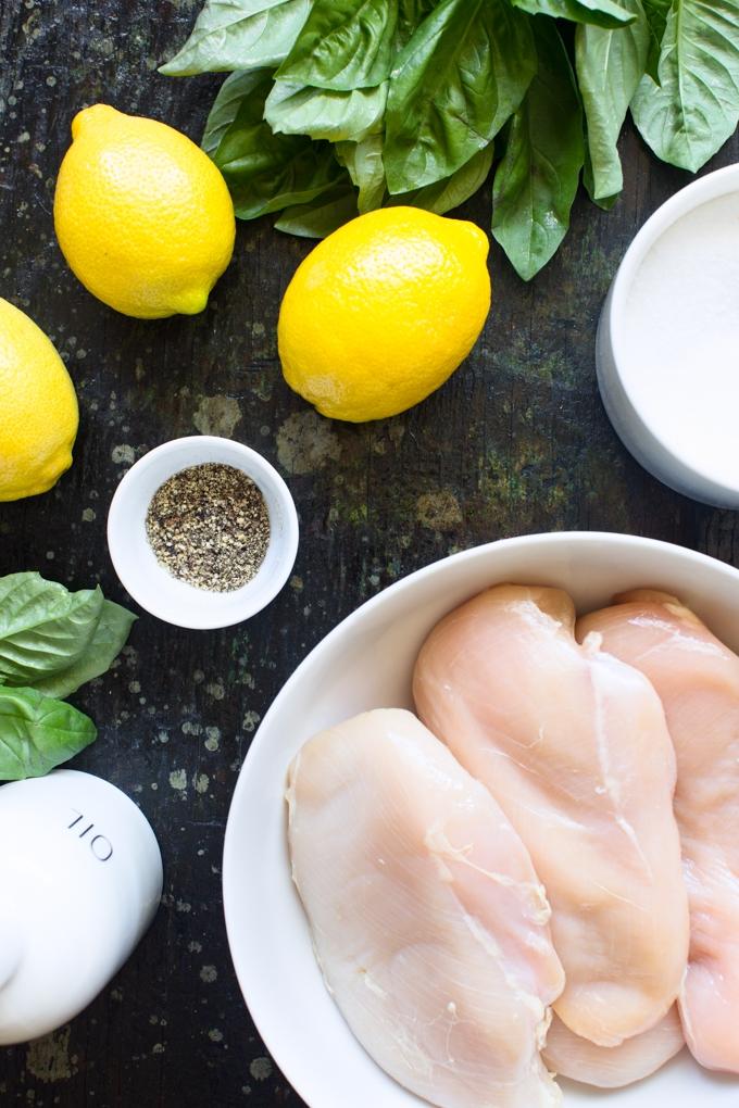 Grilled Lemon Chicken Salad Ingredients