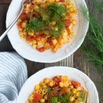 Pasta with Chickpeas, Fennel and Saffron