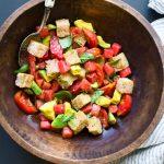 Watermelon and Tomato Panzanella Recipe