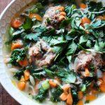 Turkey Meatballs, Kale and Orzo Soup Recipe