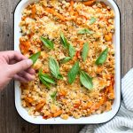 Baked Penne Vodka with Chiles and Basil Breadcrumbs
