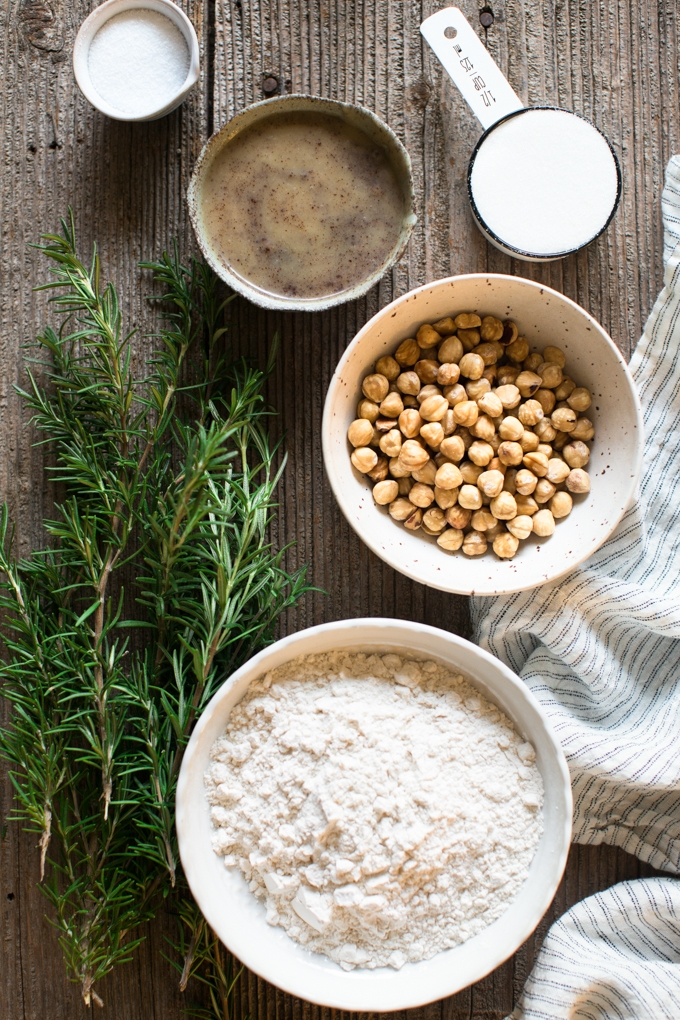 Rosemary Toasted Hazelnut Shortbread Cookie Ingredients
