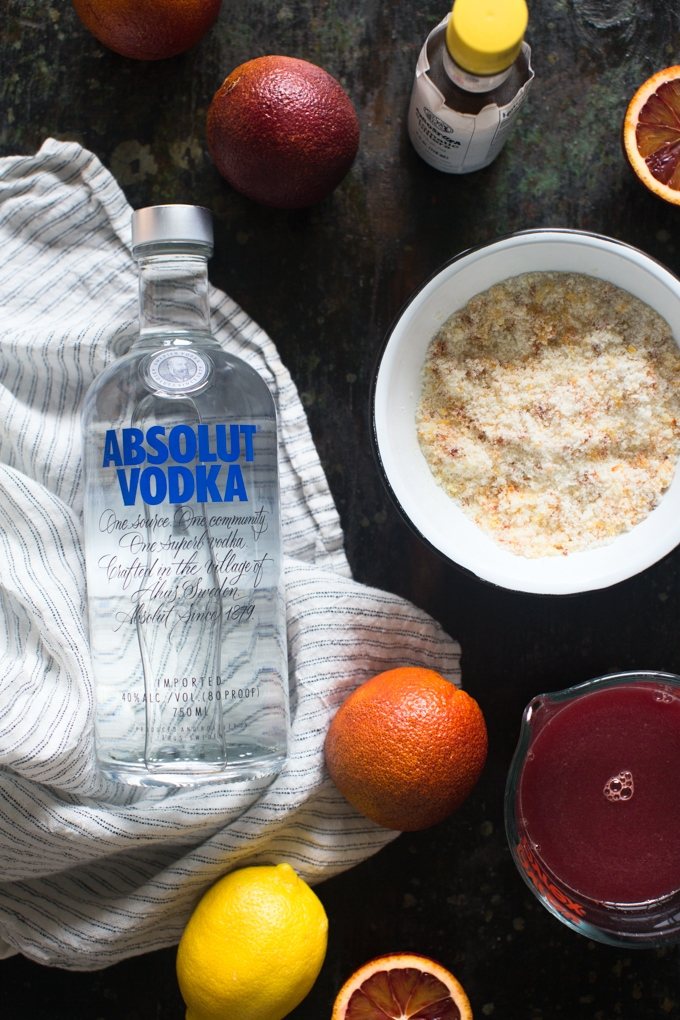 Blood Orange Vodka Sour Ingredients