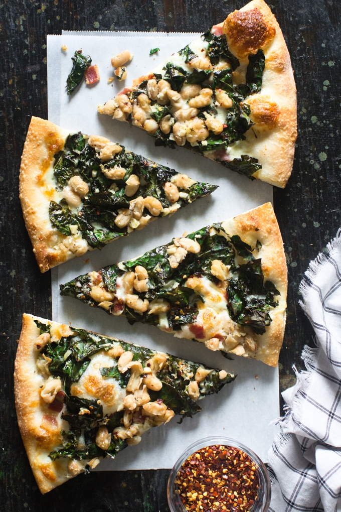 Kale and White Bean Pizza-2