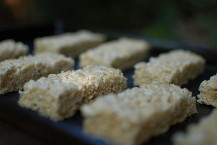 Salted Brown Butter Rice Crispy Bars