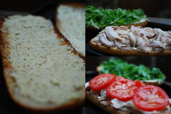 Roasted Chicken Sandwich with Fennel Mustard
