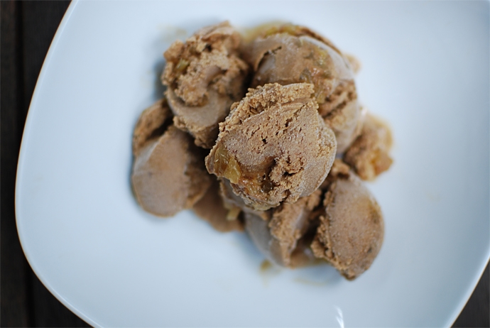 Gingerbread and Trappist Ale Ice Cream