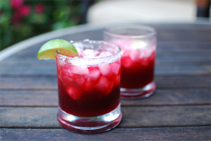 Roasted Jalapeno Blackberry Margarita