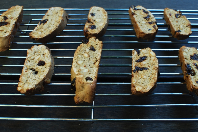 Tart Cherry and Pine Nut Biscotti