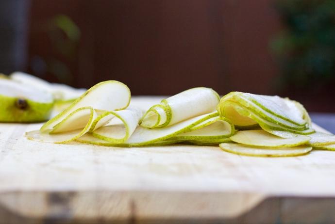 Sliced Anjou Pears