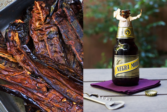 Roasted Chiles and Dark Beer