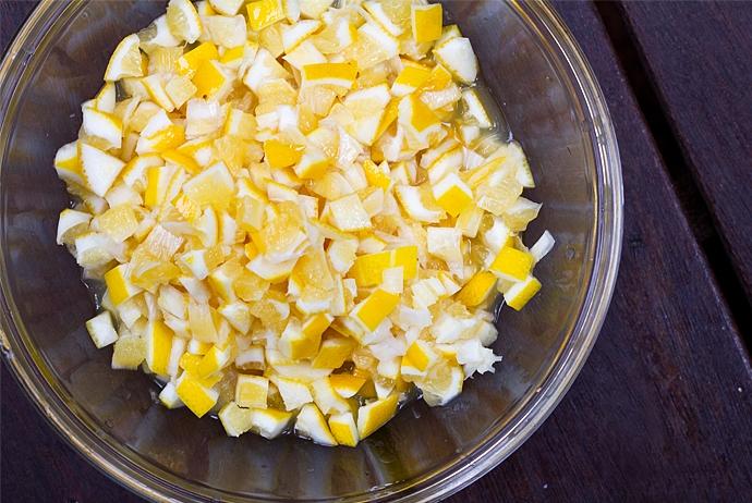 Diced Lemon