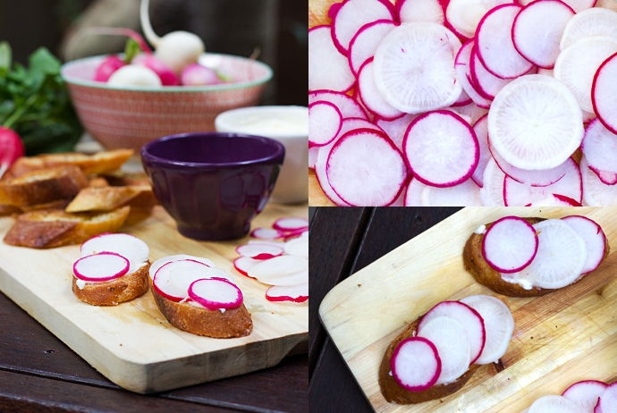 Radishes, Butter and Sea Salt