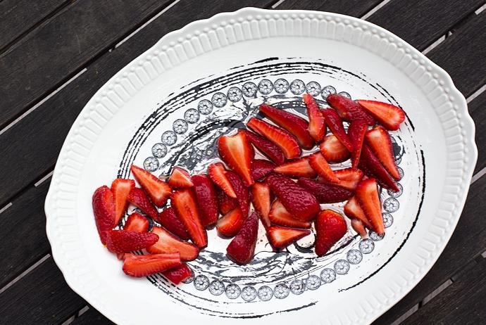 Strawberries in Lemon Syrup