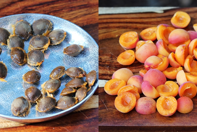 cups baby apricots, halved and pitted
