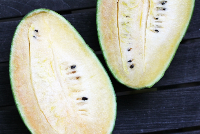 Halved Golden Watermelon