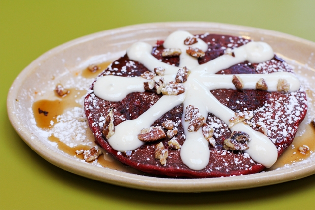 Red-Eye Velvet Pancakes at Snooze