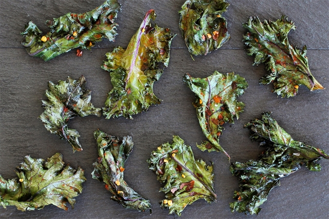 Smokey Spiced Kale Chips