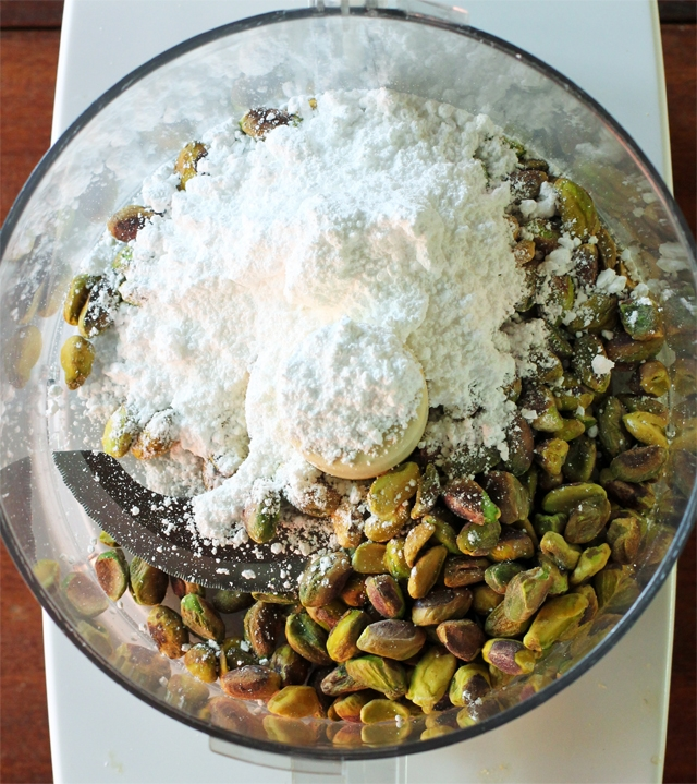 Pistachios and Powdered Sugar