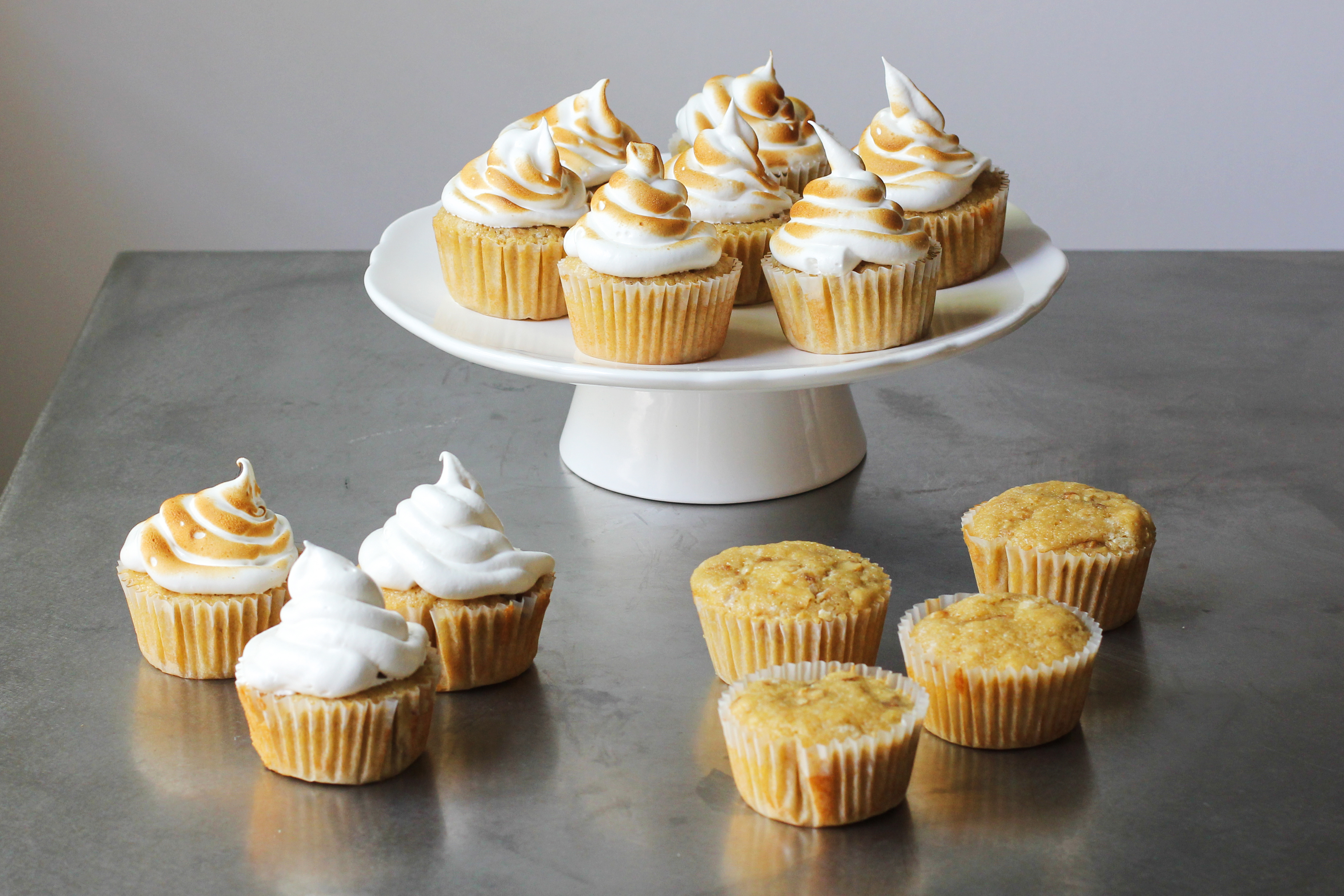 Maple Cupcakes with Toasted Marshmallow Frosting