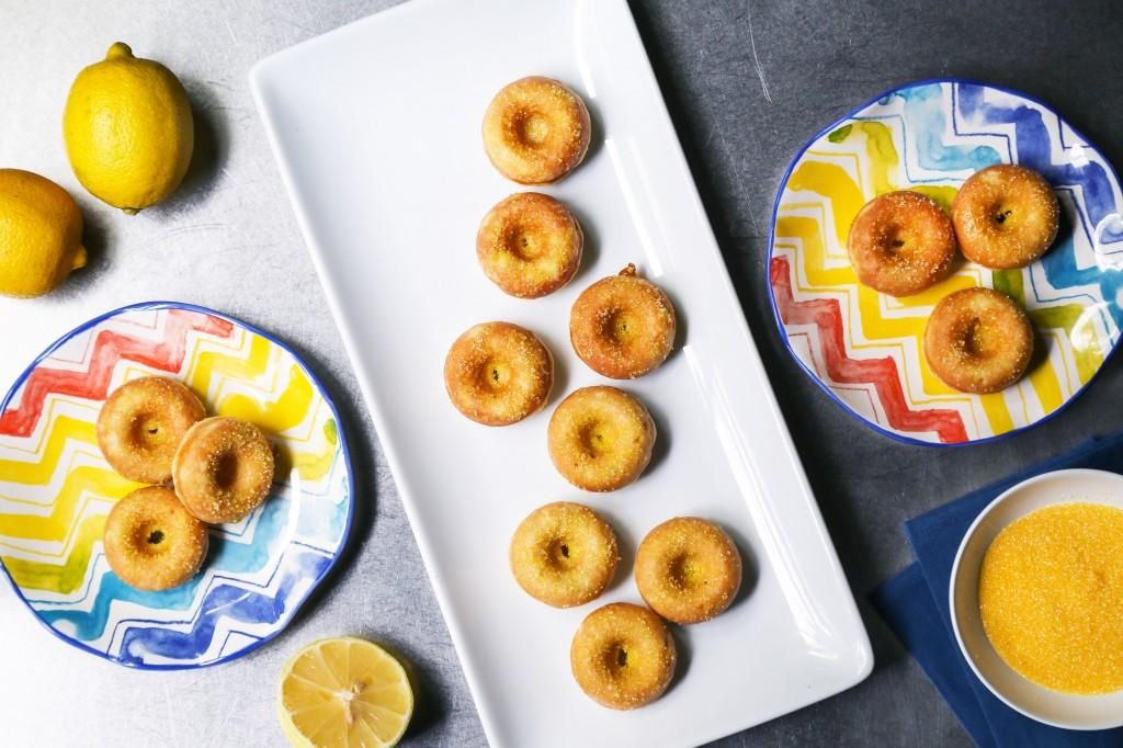 Sparkling Lemon Doughnuts