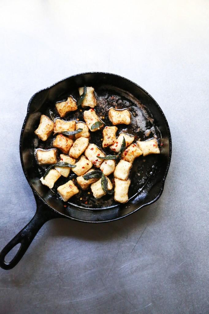 Crispy Gnocchi with Basil Pesto | Pan-Fried Gnocchi Recipe | Two ...