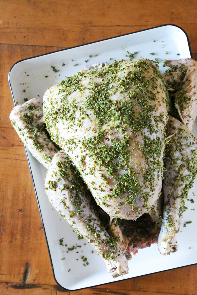 Smoked Turkey + Garlic-Herb Dry Brine