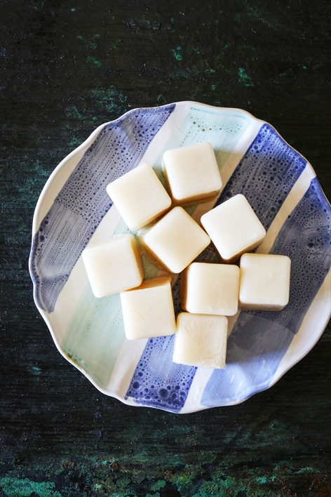 Almond Milk Ice Cubes