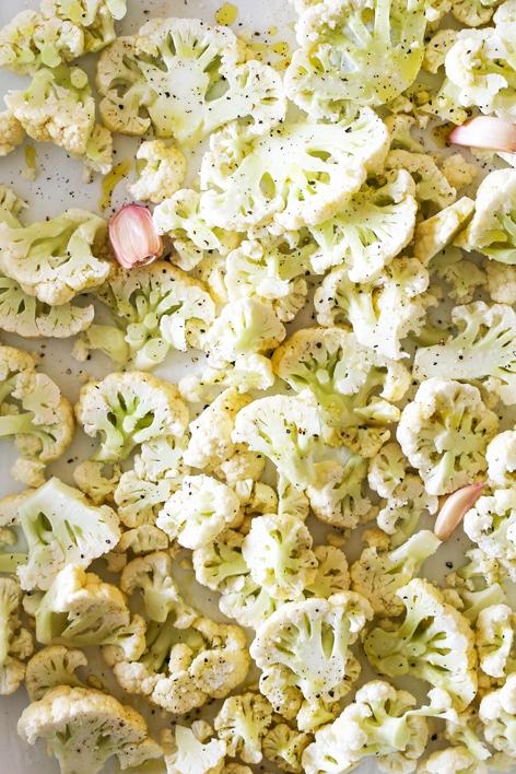 Pasta Puttanesca with Roasted Cauliflower