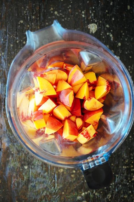 Blender Chopped Peaches