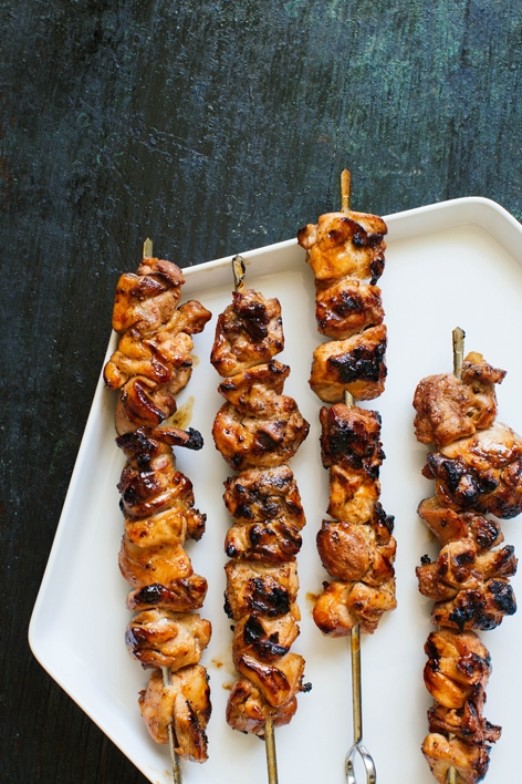 Honey Sriracha Chicken Skewers