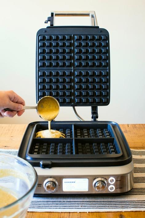 Waffle Batter Pour