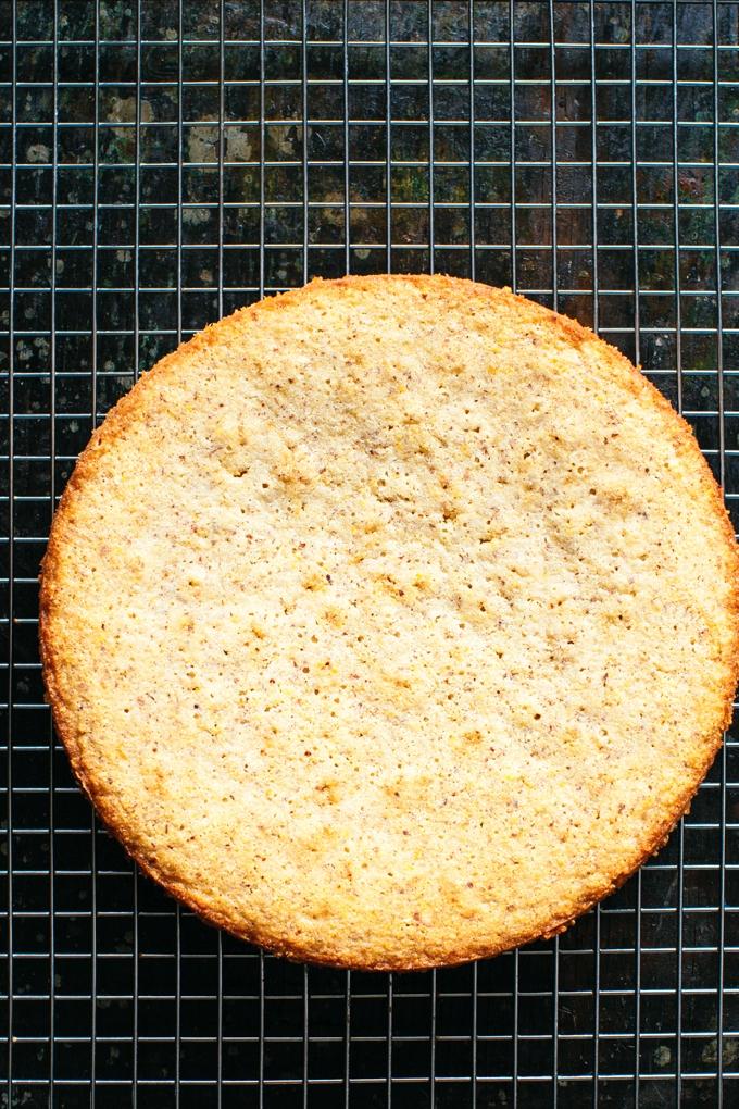 Meyer Lemon Polenta Cake Naked