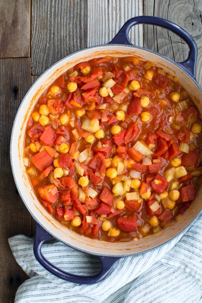 Pasta With Chickpea-Tomato Sauce Recipe — Dishmaps