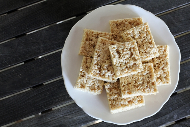 Salted Brown Butter Rice Crispy Squares