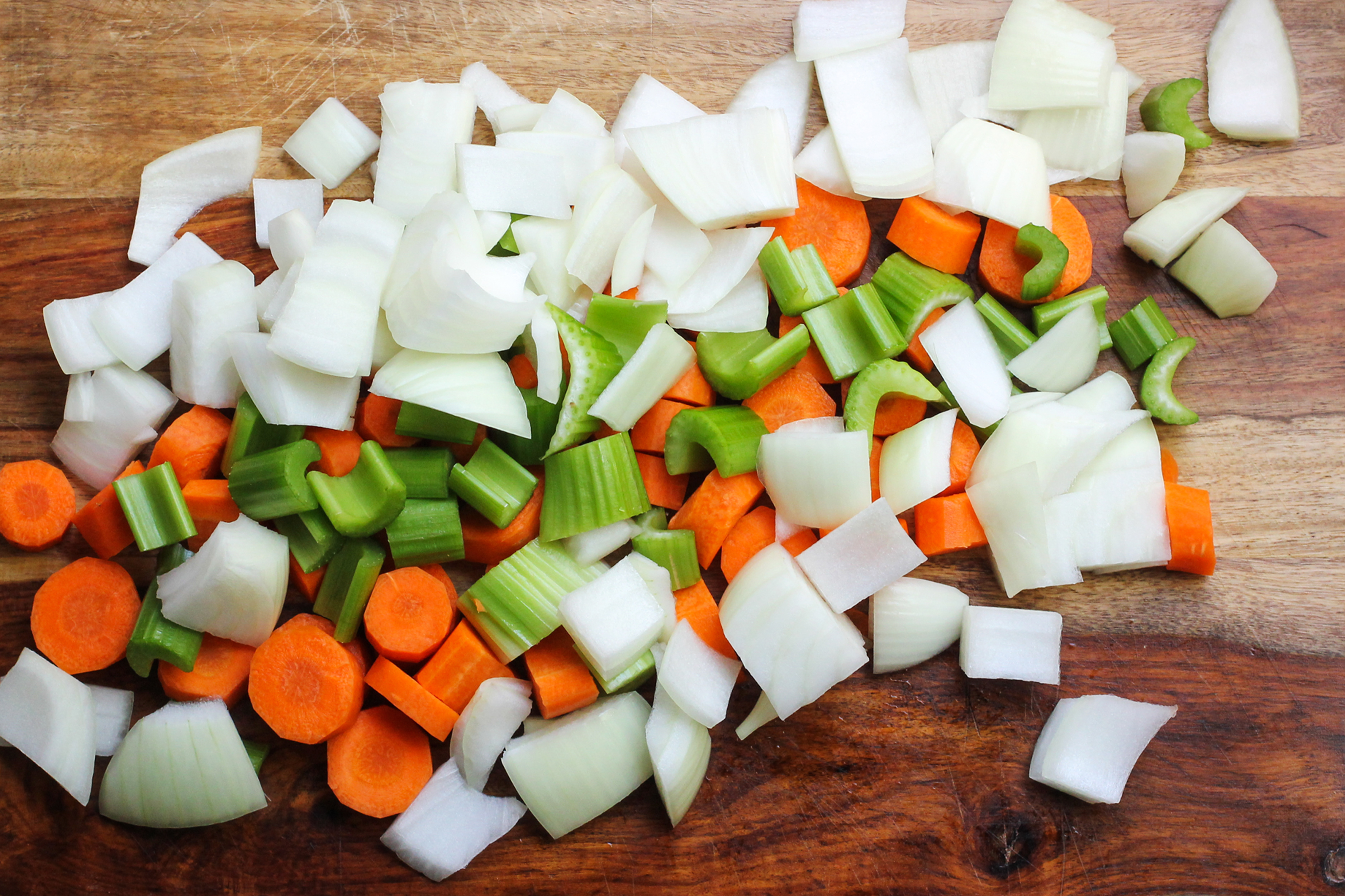 Chopped Onion, Celery and Carrot